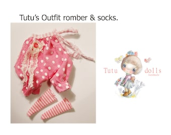 Tutu's overall,handmade,cotton with lace & socks.