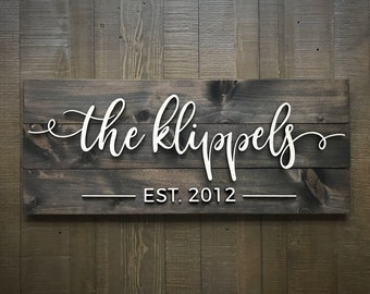 Pallet Sign / Last Name Sign / Custom Wood Sign / Established Sign /  Personalized Wedding gift / Wedding Sign / 3D Sign / Family Name Sign