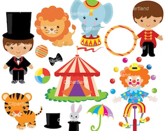 INSTANT Download. Circus clip art. Ccirc_17. Personal and commercial use.