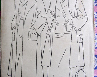 UNCUT * 1930's New York Sewing Pattern 544 -  - FABULOUS  Misses' Swagger  Coat  - Factory Folded * Bust 32