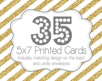 35 PRINTED INVITATIONS and white envelopes