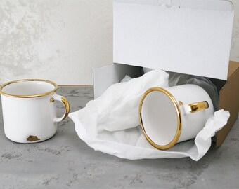 "2 Real Gold Finished ""I am a Ceramic"" Handmade Mugs"