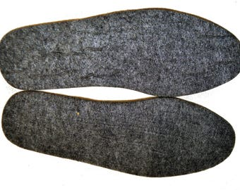 INSOLES for Shoes Boots Felt Unisex Men Women Natural Felt 4-5 mm thick in All Sizes