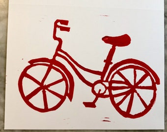 Red Bike Cards and Envelopes