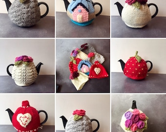 Funky Retro Style Small Hand Knitted Tea Cosies