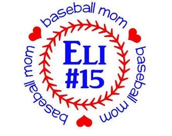 Personalized Baseball Moms Shirts