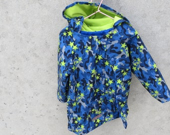 Blue and green raincoat size 4t fleece lined