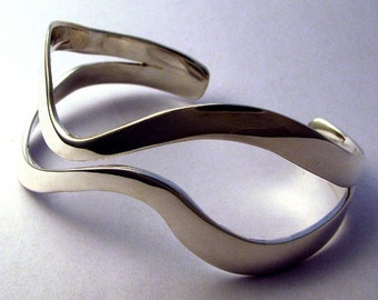 Sterling Cuff Bracelet, Sliding By