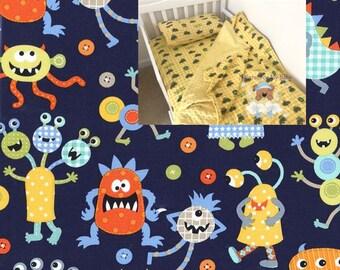 Monsters Toddler Boy Bedding Set Monsters Toddler Blanket Comforter Fitted Sheet Pillow Case Navy Toddler Bedding Twin