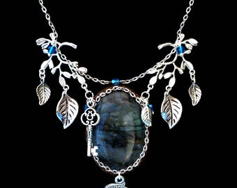 """Mystery Sylvester"" blue Labradorite necklace"