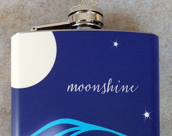 Stainless Flask - Moonshine - 8 oz.