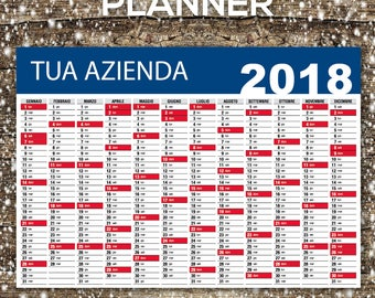 Planner Calendar 70x100 for companies, Printable, Customizable