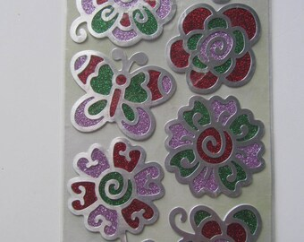 Scrapbooking embellishments stickers stickers - sheet of 9 stickers