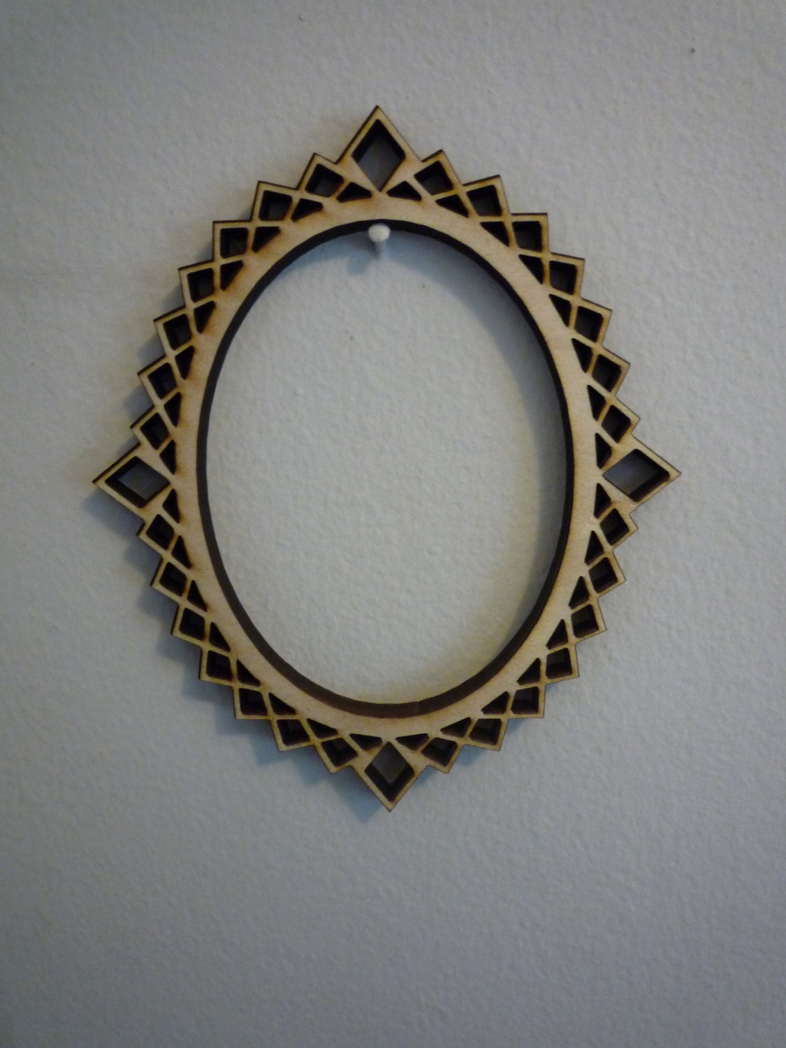 Decorative Oval Laser Cut Picture Frame from HMCrafters on Etsy Studio
