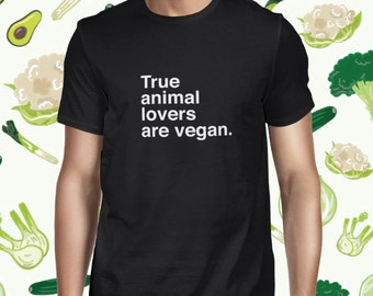 Animal Lover Men's T-shirt - Vegetarian Statement Shirt for Men - Plant-based Tshirt - Women's Vegetarian Tee Shirt - Vegan Shirt for Women