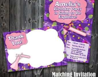 Printable Chemistry/Science Thank You Note (GC001a)