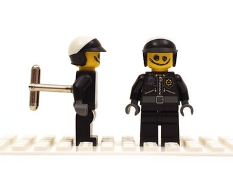 Scribble-Face Bad Cop cufflinks. Cufflinks made with LEGO(R) bricks. The LEGO Movie,    ... Wedding gift