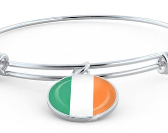 Irish Pride - Bangle Bracelet - Jewelry Gift For Her