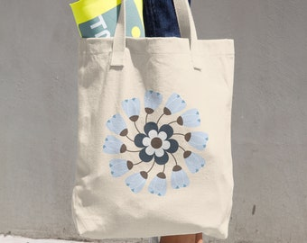 Cotton Tote Bag Flowers