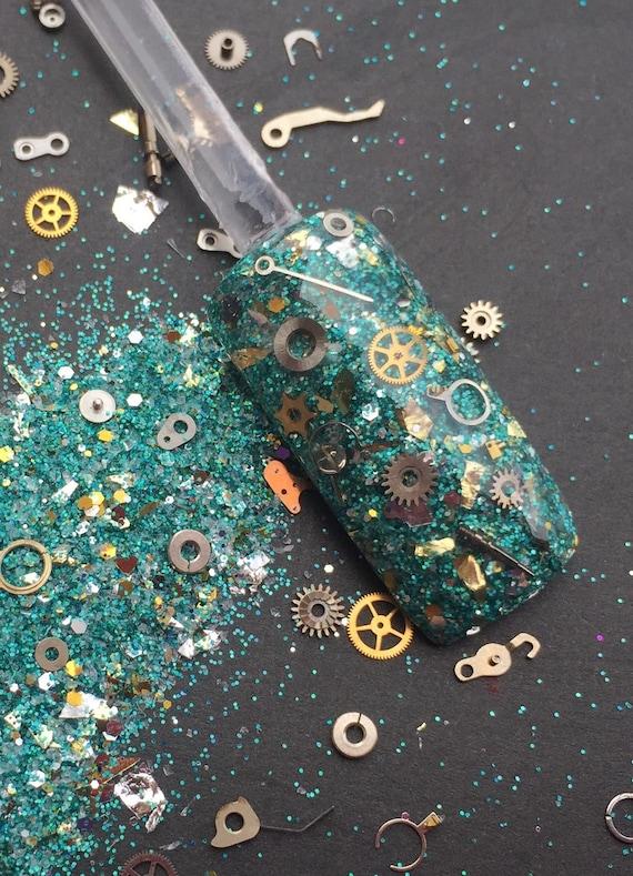 Nail Art Acrylic Gel Glitter mix TIME MACHINE