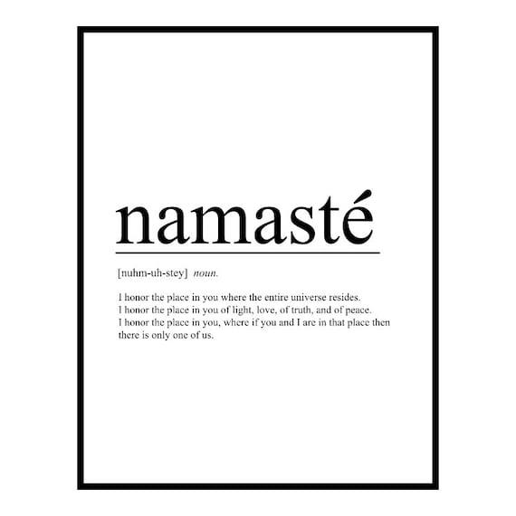 Namaste   Yoga Zen Méditation Bouddha citation inspirante   Sticker  autocollant mural amovible   MS015VC-
