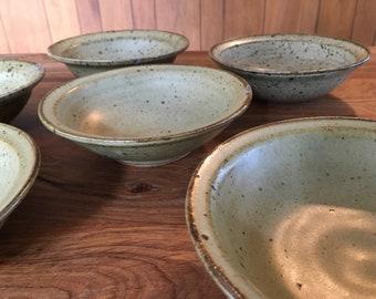 Eunice Prieto Damron Signed Pottery Bowls - Set of Six