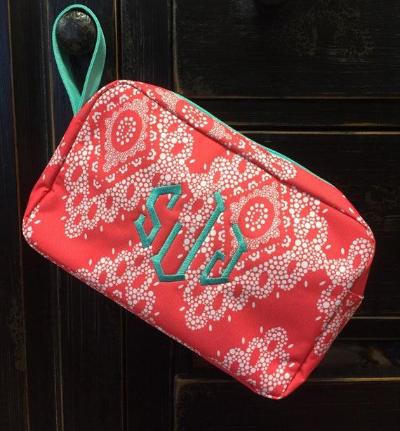 Coral Cosmetic Bag