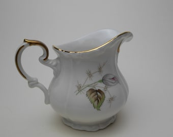 Vintage Edelstein Bavaria Maria-Theresia Cream / Milk Jug– Floral Design with Gold Edging – Made in Germany