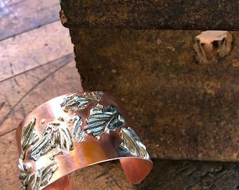 Copper BRACELET / Textured Cuff