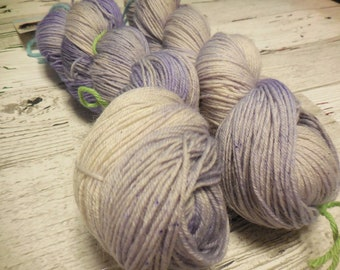 "Anglophile BFL fingering yarn in ""Faded Bouquet"" from AnniePurl"