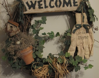 Welcome Garden Wreath