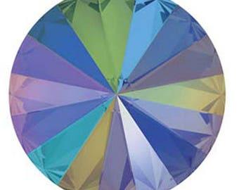 Swarovski Crystal Paradise Shine Foiled Faceted Foil Back Rivoli Stone Beads 1122 14mm