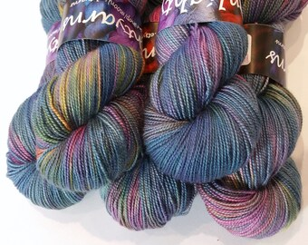 Yarn sock weight- 80 merino 20 silk high twist- dragonfly wings