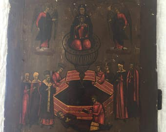 Antique Religious Painting on Wood