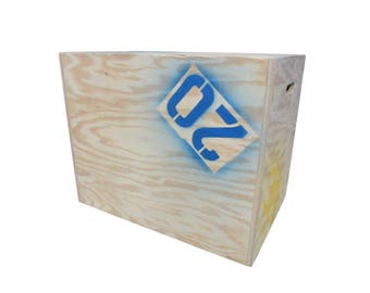Garage Gym Plyometric Box 30in x 24in x 20in 3 in 1 Natural 3/4in Plywood