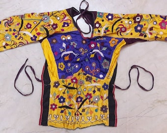 Exotic Indian Kutch banjara Tribe Traditional Hand Embroidery Belly Dance Choli/Blouse/Top Ladies Dress ATS