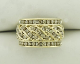 1.20 Carat Diamond 10K Yellow Gold Ring (N2-2441)