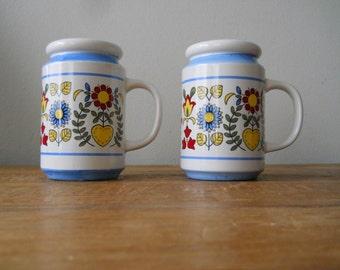 Pair of Scandinavian Salt and Pepper Shakers