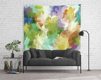 Wall Tapestry, Abstract Tapestry, Watercolor Tapestry, Dorm Room Decor, Watercolor Wall Art, Wall Hanging, Modern Art Tapestry, Art Tapestry