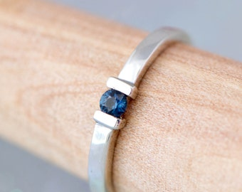 Sapphire Ring, Sterling Silver Ring, Gemstone Jewelry, Blue Gemstone, September Birthstone Ring, Birthstone Jewelry, Gift For Her
