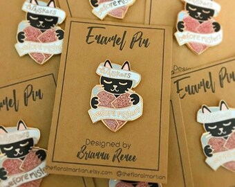 Whiskers Before Misters Pin | Hard Enamel Pin | Cat pin | Cats | enamel pin | pin | cat enamel pin | crazy cat lady | feminist