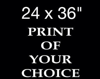 """XL-Druck - 24 x 36""""- Ihrer Wahl"""