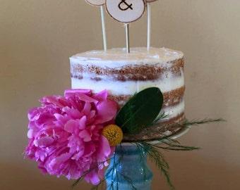 Handmade Birch Cake Toppers