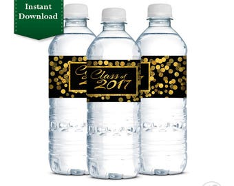 Instant Download - Graduation Water Bottle Labels, Graduation, High School Graduation, College Graduation