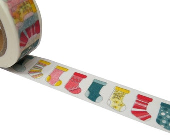 Christmas Themed Washi Tape - Colourful Socks Washi Tape