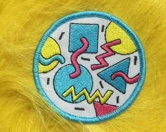 Squiggle 80's Memphis Design Patch