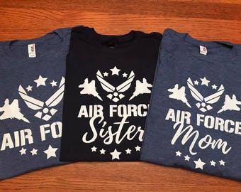 Air Force Family | gift for her, gift for women, friend gift, best friend gift, gift for him, birthday gift, air force mom, air force dad