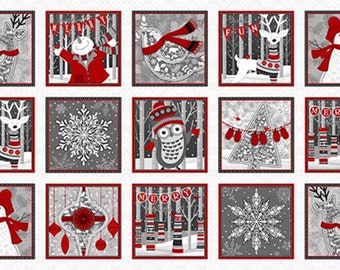 Holiday Magic Blocks Panel by Henry Glass