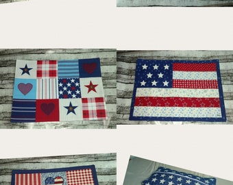 Americana placemats- great zipper bags