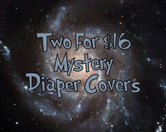 Two for 16 dollars Mystery Print Polyester PUL Diaper Covers
